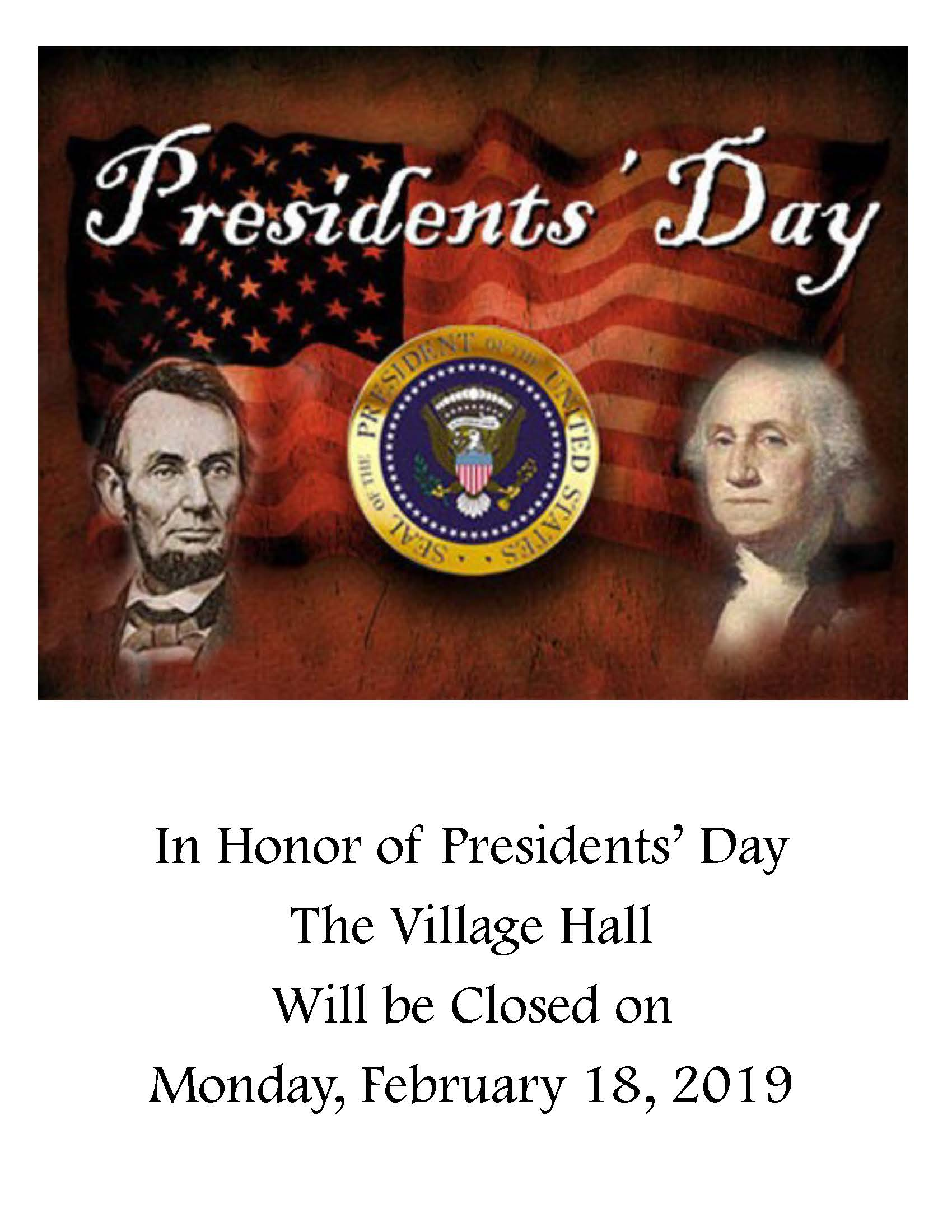 Village Hall_Presidents Day