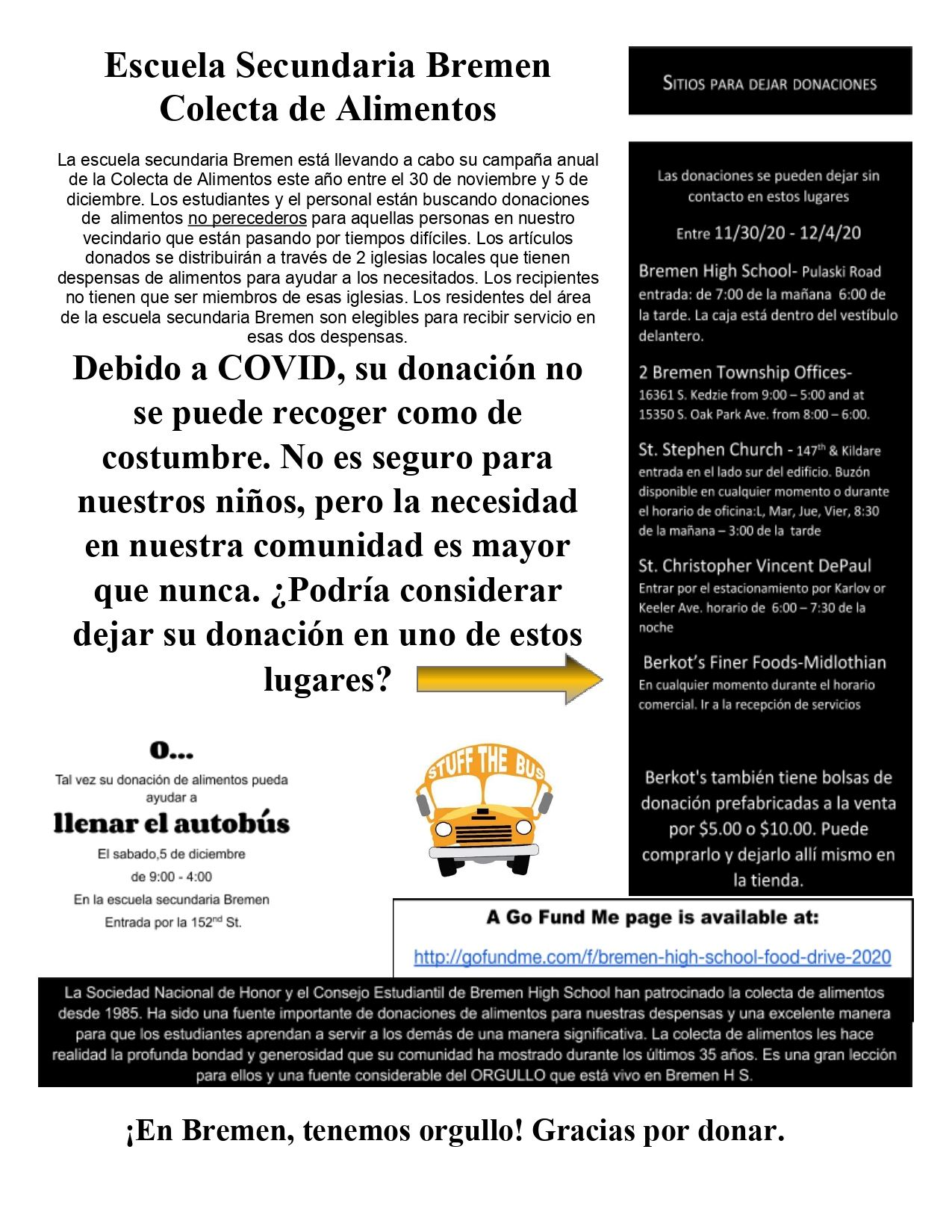 Spanish Copy of Bremen High School Food Drive Flyer 2020_page-0001