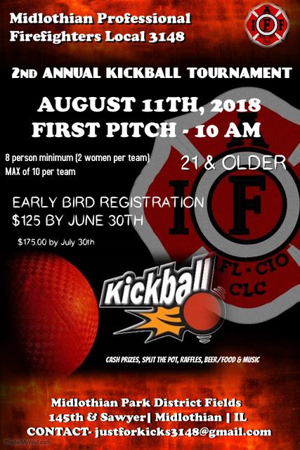 Kickball Tournament - 8-11-18 - Midlothian Professional Firefighters Local 3148